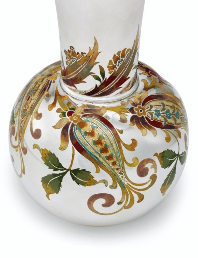 AN AMERICAN SILVER AND ENAMEL